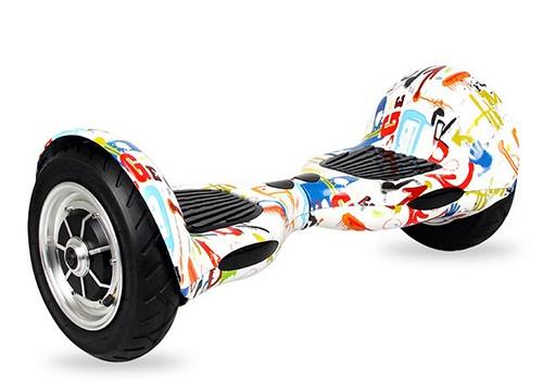 xe điện cân bằng 10 inch vân trắng với màu sắc sặc sỡ