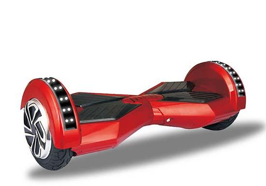 xe điện cân bằng 2 bánh 8 inch màu đỏ 4 đèn led