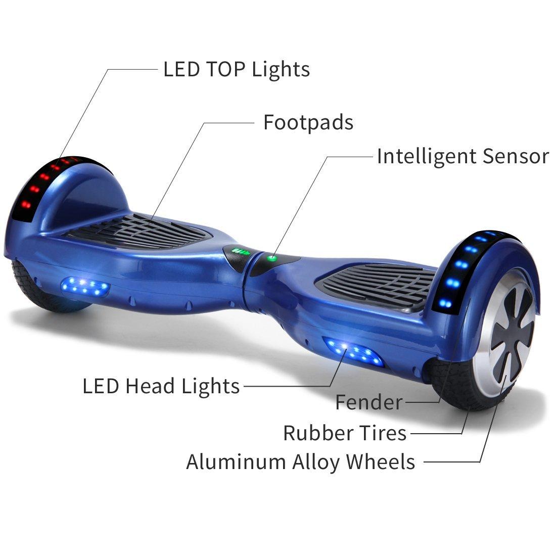 Xe điện đi bộ 2 bánh thông minh xanh chi tiết