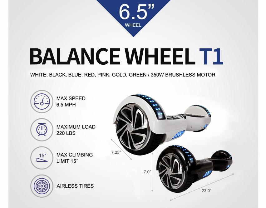 Xe điều khiển bằng chân balance wheel t1