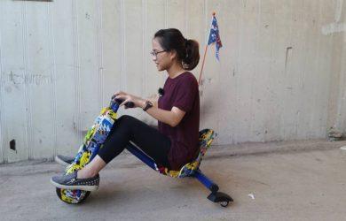 mô tả xe điện 3 bánh trẻ em Drift scooter