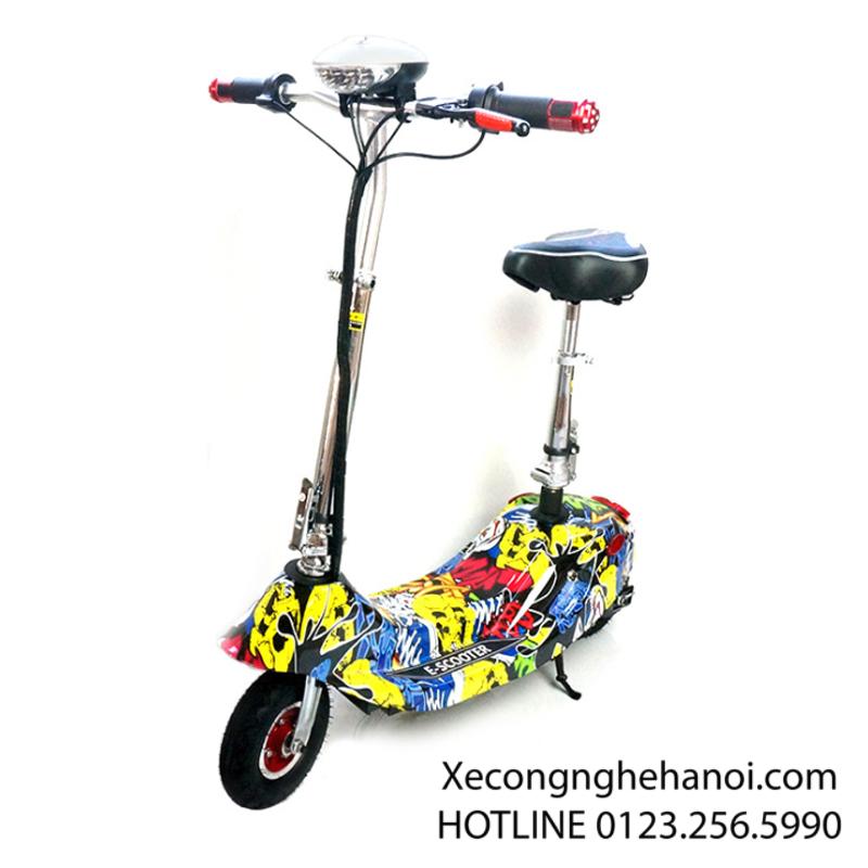 xe đạp điện mini màu vân vàng