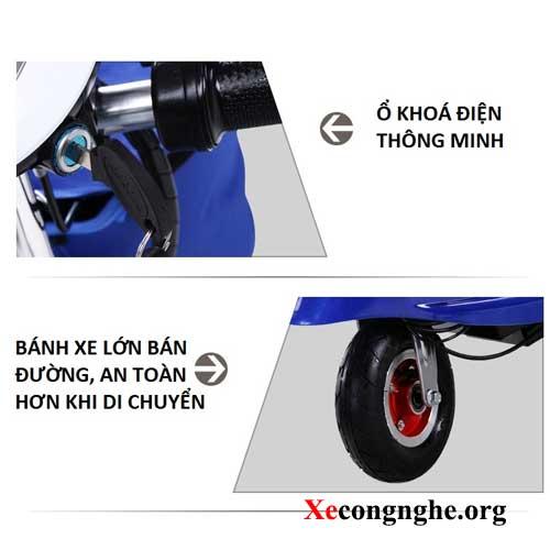 bánh xe máy điện mini escooter