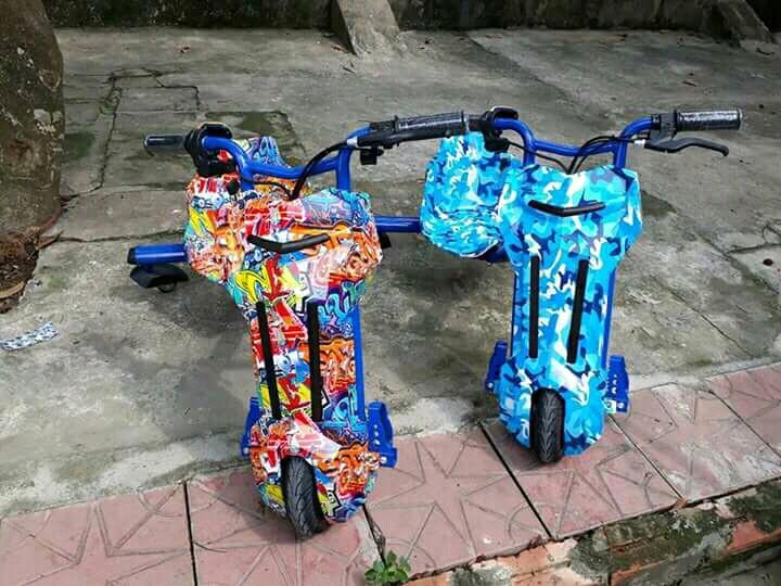 xe diẹn 3 banh drift scooter