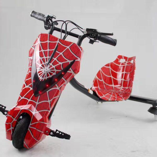 xe điện 3 bánh trẻ em drift scooter 36v vàng nhện