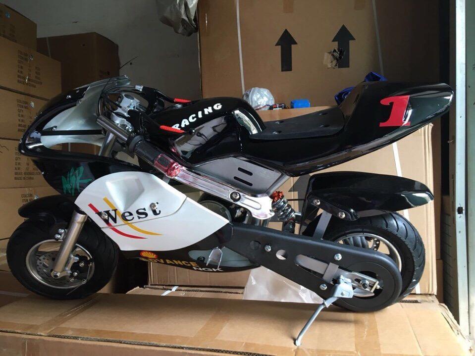 xe moto mini 24v 350w giảm sóc