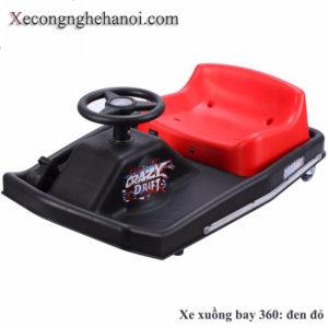 xe xuồng bay 360 đen đỏ xe điện 3 bánh