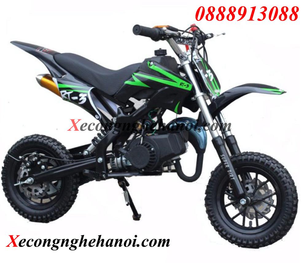 xe-cào-cào-mini-50cc-chạy-xăng-có-giảm-sóc-màu-xanh-lá